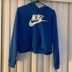 NIKE logo crop hoodie